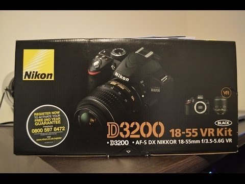 Nikon D3200 Unboxing and First Look (With Kit Lens)
