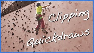 How to Lead Climb - Clipping quickdraws 101 by The Climbing Nomads