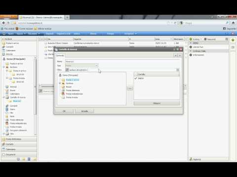 ICEWARP (WebClient): Cartelle di ricerca