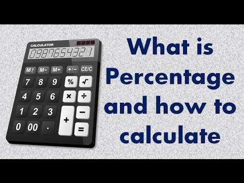 how to calculate a percentage