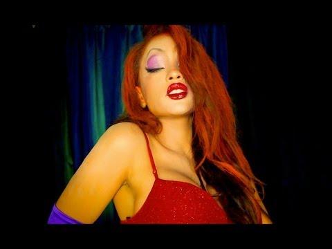 Jessica Rabbit Halloween Makeover%21