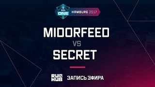 MidOrFeed vs Secret, ESL One Hamburg 2017, game 1 [Maelstorm, LightOfHeaven]