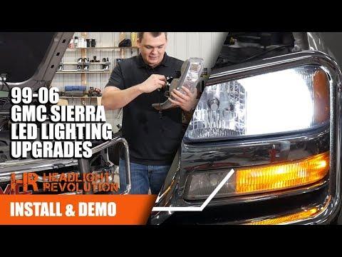 1999-2006 GMC Sierra LED Lighting Upgrades: Supernova Headlight Bulbs, GTR Lighting DRL And Blinkers