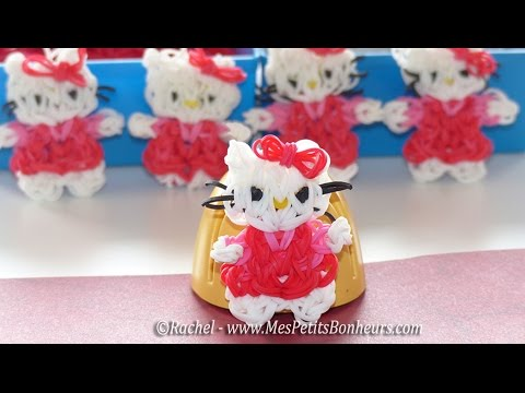 Hello Kitty Rainbow Loom en élastiques – Tuto français