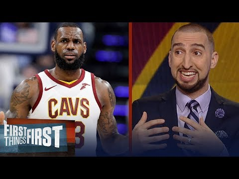 Nick Wright reveals his theory on LeBron's slumping Cavs, Talks trade rumors | FIRST THINGS FIRST