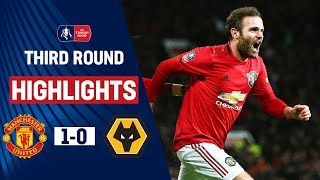 Mata's Cool Finish Puts United Through   Manchester United 1-0 Wolves   Emirates FA Cup 19/20