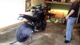 8. 2014 Yamaha FZ-09 with G.P.R. Full Exhaust (with Db Killer Inserted)