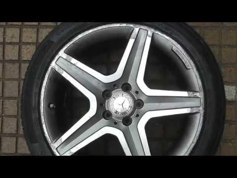 Full factory diamond-cut  alloy wheel refurbishment - Mercedes AMG wheel