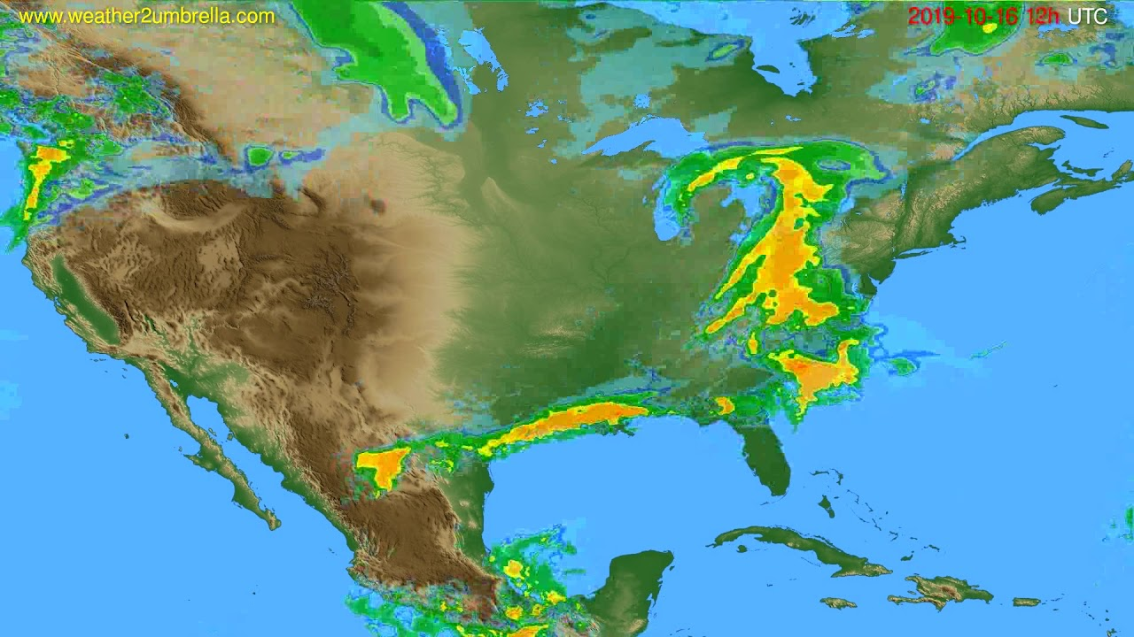 Radar forecast USA & Canada // modelrun: 00h UTC 2019-10-16