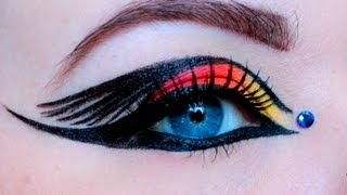 Mockingjay On Fire- Hunger Games Inspired Makeup Tutorial - YouTube