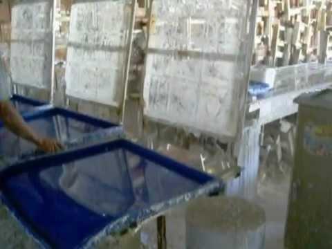 Fabricação de placas de gesso