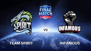 Первый раунд нижней сетки Team Spirit vs Infamous The Final Match LAN-Final. Комментирует: Feaver.Подписывайся на наш канал: http://bit.ly/dotasltv_subscribeПрисоединяйся к нашему паблику: http://vk.com/dotasltvОбщайся с нами в твиттере: http://twitter.com/dotasltvИщи самые крутые фотографии с турниров : http://instagram.com/dotasltvСтавь лайк нашей странице в ФБ: http://facebook.com/dotasltv