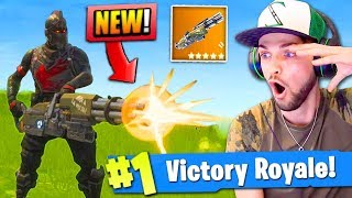 *NEW* MINI-GUN GAMEPLAY in Fortnite: Battle Royale! (LEGENDARY)