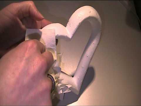 Herz Kranz mit Stoffresten basteln Video