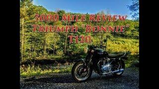 6. 3000 Mile Review 2018 Triumph Bonneville T120