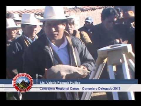 PRIMERA PIEDRA DE LA CONSTRUCCION DE LA INSTITUCION EDUCATIVA CESAR VALLEJO DE SAUSAYA