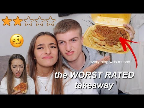 Trying The WORST RATED Takeaway | Amy Menzies