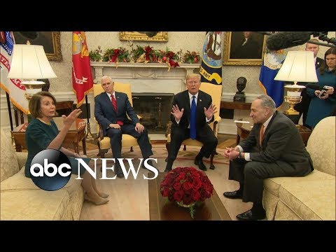 Trump, Schumer, Pelosi publicly spar over border security