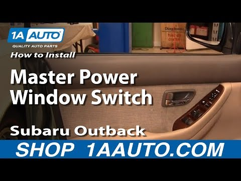 How To Install Replace Master Power Window Switch Subaru Outback 00-04 1AAuto.com