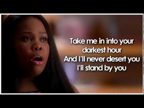 Video Glee - I'll Stand By You (Lyrics) download in MP3, 3GP, MP4, WEBM, AVI, FLV January 2017