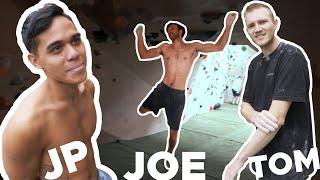 Roof CAMPUS    Joe burns us off! by Bouldering Bobat