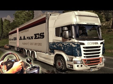 Euro Truck Simulator 2 - TSM Map mod v5, Scania R Tandem V8 OpenPipe Sound. Full HD 2014