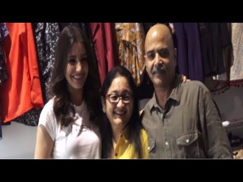 Anushka Sharma With Her Mom And Dad | Nush Clothing Brand Launch