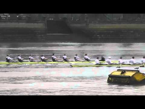 Oxford University Boat Club - Oxford University races a German Eight off the start at Putney, 17th March 2013.