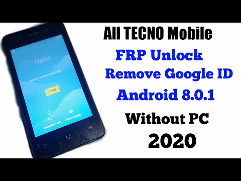 ALL TECNO 8.0.1 FRP/ Bypass Google Account 2020 TECNO Mobile Remove FRP.