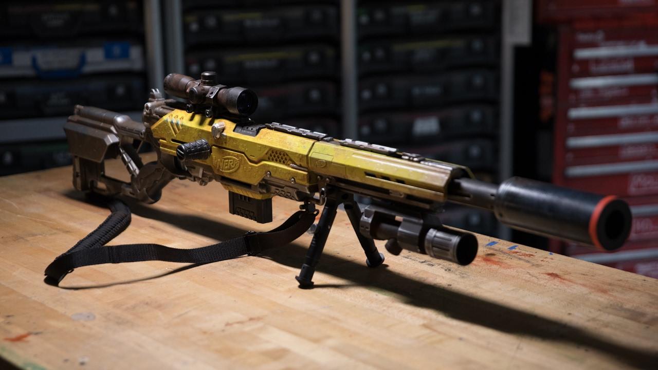 Lego Guns Sniper Elite Arma Em Tamanho Real De Montar N Nerf