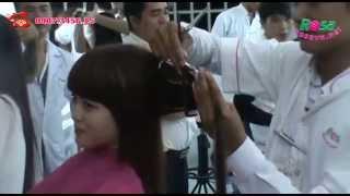 Thi tốt nghiệp tạo mẫu tóc chuyên nghiệp khóa 16/2013