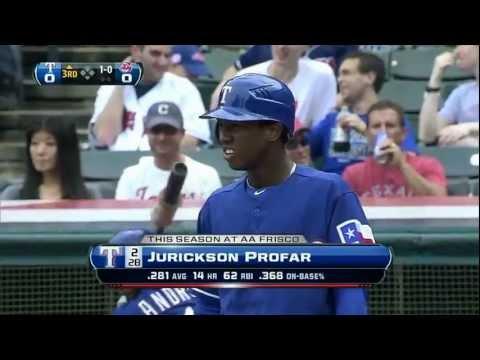 Jurickson Profar's first Major League At-Bat