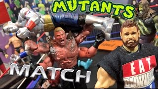 GTS WRESTLING: MUTANTS MATCH! Hilarious WWE Mattel Figure Anim...