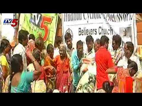 TV5 Hudhud Relief Campaign | Believers Church with tv5 at Vizianagaram : TV5 News