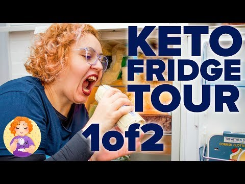 Low carb diet - Keto Grocery Food Haul Shopping List UK for beginners - Low Carb Foods Fridge Tour Pt 1