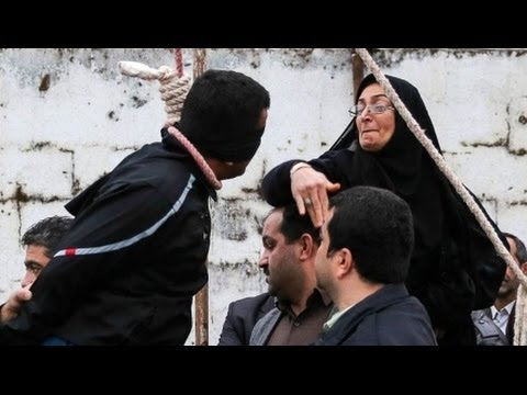 Iran - An Iranian mother saved her son's killer from being executed after slapping him in the face and then forgiving him for killing her son. The man was scheduled to hang for stabbing the 18-year-old...