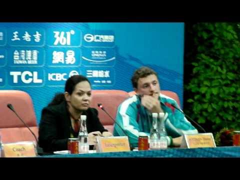 Juegos Asiáticos de 2010: conferencia de prensa Denis Istomin