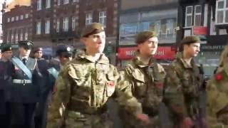 Loughborough United Kingdom  city photos gallery : Remembrance Day Parade Loughborough November 13th United Kingdom 2016