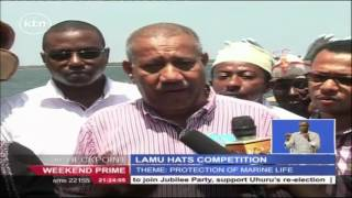 Lamu youth take part in rare hat making contest