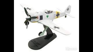 HobbyMasterFw190A-4ドイツ空軍第54戦闘航空団第I飛行隊第1中隊隊長ヴァルター・ノヴォトニー大尉機43年#81/48[HA7421]