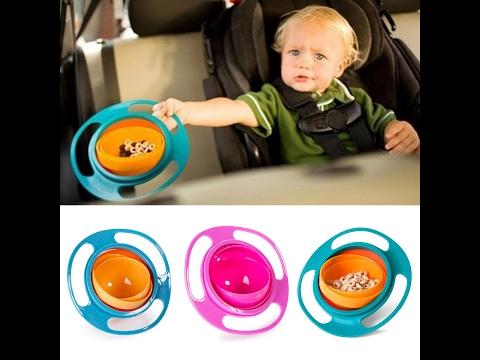360 Rotate Spill-Proof Gyro Bowl for Children SelfEdge.PK