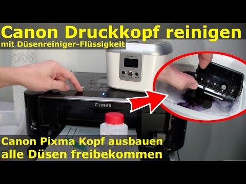 Canon Pixma Druckkopf ausbauen + reinigen mit Düsenreiniger | nozzle cleaner