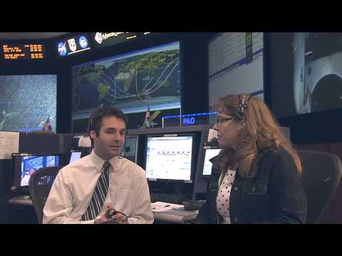 the station - Brandi Dean interviews SPARTAN flight controller Anthony Vareha. The SPARTAN console in the Mission Control Center is in charge of the station's electrical a...