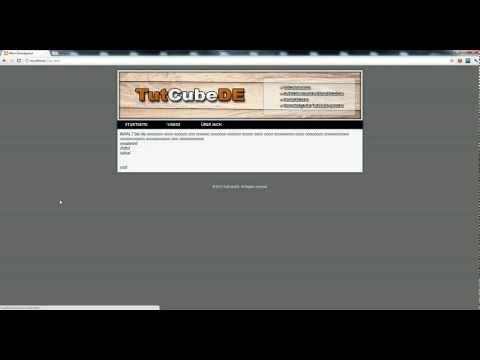 HTML5 & CSS3 – Webseite erstellen (Header einfügen) #9 [TuTCube]