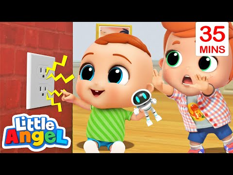 Be Safe Around the House | Safety Tips | Little Angel Kids Songs & Nursery Rhymes