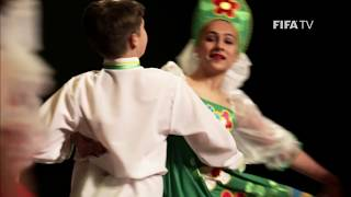 We go behind-the-scenes at the Zadumka children's theatre in Samara, where the company have been preparing for the FIFA World Cup Russia 2018.