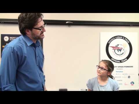 Tim Pickens interviews student at Valley Intermediate School -  1