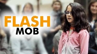 Video AMAZING - Flash Mob -  Started by one little girl -  Ode to Joy MP3, 3GP, MP4, WEBM, AVI, FLV Agustus 2019