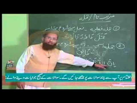 urdu arabic grammar class - Learn Arabic Grammar in Urdu - اردو زبان میں عربی گرائمر سیکھۓ - Lesson 6.