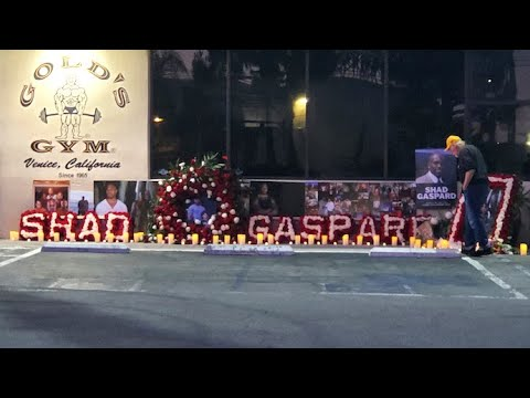 Shad Gaspard Memorial At Gold's Gym In Venice
